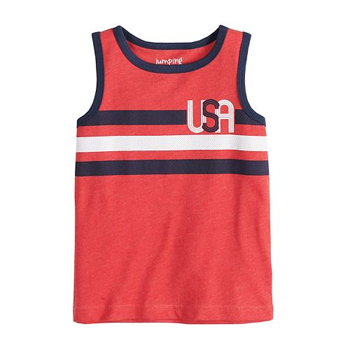 Baby Boy Jumping Beans® Patriotic Slubbed Tank Top