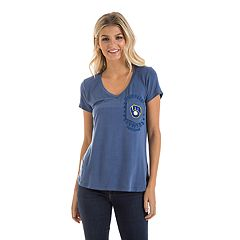 Women's New Era Milwaukee Brewers Pocket Tee