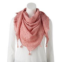 Women's SONOMA Goods for Life™ Crushed Pleat Triangle Scarf