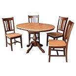 International Concepts Extension Dining Table & Chair 6-piece Set