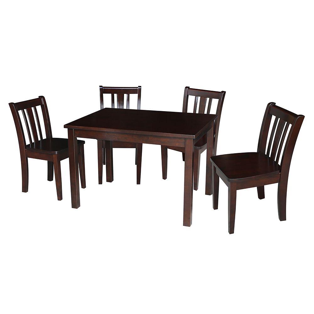 International Concepts San Remo Juvenile Dining Table & Chair 5-pc. Set