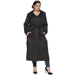 Plus Size TOWER by London Fog Long Trench Coat