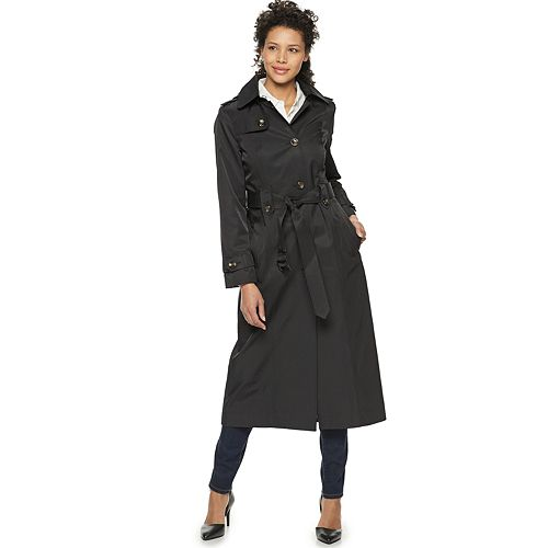 Women's TOWER by London Fog Long Trench Coat