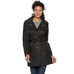 Women's TOWER by London Fog Double Lapel Trench Coat