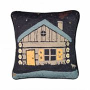 Donna Sharp Moonlit Cabin Decorative Throw Pillow