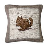 Donna Sharp Birch Forest Chipmunk Decorative Pillow