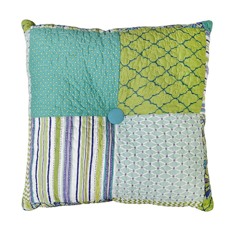Donna Sharp Riptide Patch Decorative Throw Pillow, Fits All