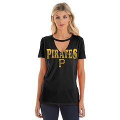 Women's New Era Pittsburgh Pirates Cut Out V-neck Tee