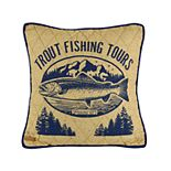 Donna Sharp Lakehouse Trout Decorative Pillow