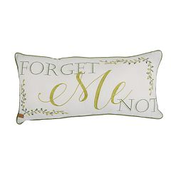 Donna Sharp Forget Me Not Oblong Decorative Pillow