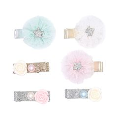 Girls Carter's 6-pack Floral Hair Clips