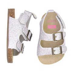Baby Girl Carter's Glitter Cork Sole Sandals