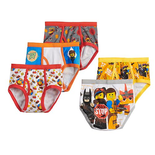 Boys 4-8 Lego Movie 2 5-Pack Briefs