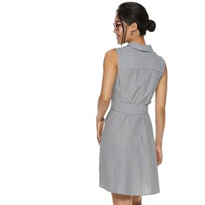 Women's POPSUGAR Sleeveless Shirt Dress