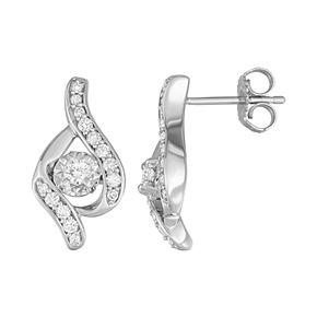 Sirena Collection 14k Gold 1/3 Carat T.W. Diamond Stud Earrings
