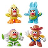 Disney/Pixar Toy Story 4 Mr. Potato Head Mini 4-Pack: Buzz, Woody, Ducky & Bunny Figures