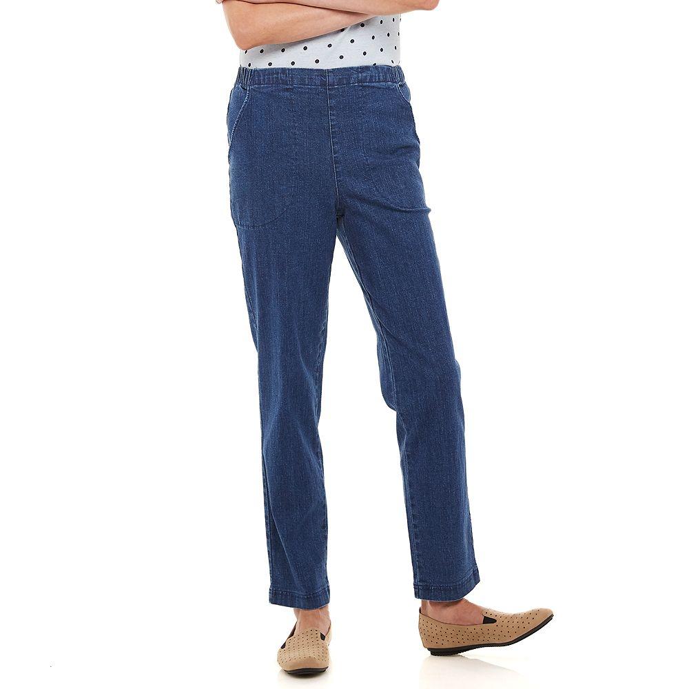 Women's Croft & Barrow® Classic Pull-On Straight Leg Jeans