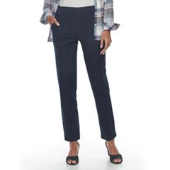 Women's Croft & Barrow® Classic Pull-On Tapered-Leg Jeans