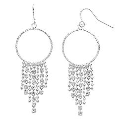 Brilliance Chain Dangle Earrings with Swarovski Crystals