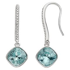 Brilliance Linear Cushion Earrings with Swarovski Crystals.