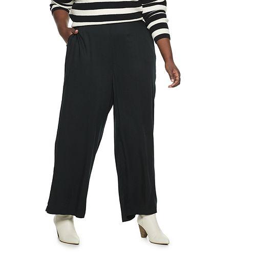 Plus Size POPSUGAR Wide-Leg High-Waisted Pants