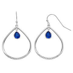 Brilliance Open Pear Drop Earrings with Swarovski Crystals