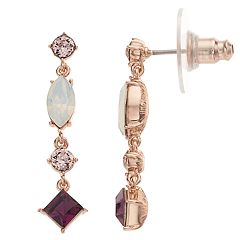Brilliance Linear Drop Earrings with Swarovski Crystals