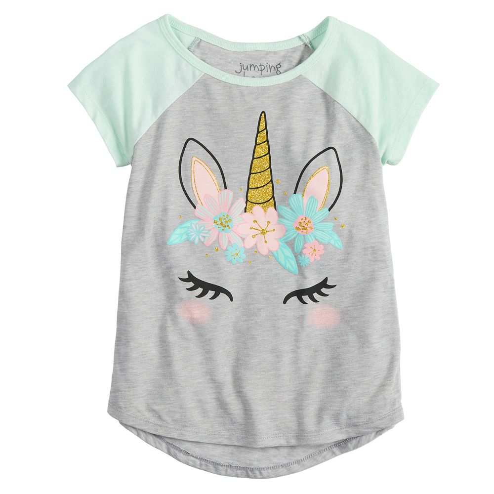 Girls 4-12 Jumping Beans® Glittery Unicorn Graphic Tee