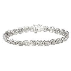 1/4 Carat T.W. Diamond Sterling Silver S-Link Bracelet