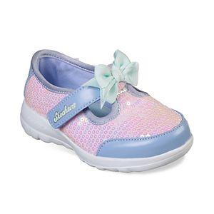 5b756052b Skechers GOwalk Bitty Hearts Toddler Girls  Sneakers