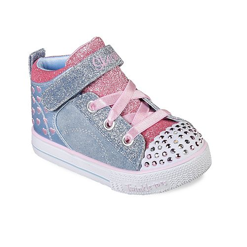 f8dd9f55aaa9 Skechers Twinkle Toes Shuffle Lite Dainty Denims Toddler Girls  Light Up  Shoes
