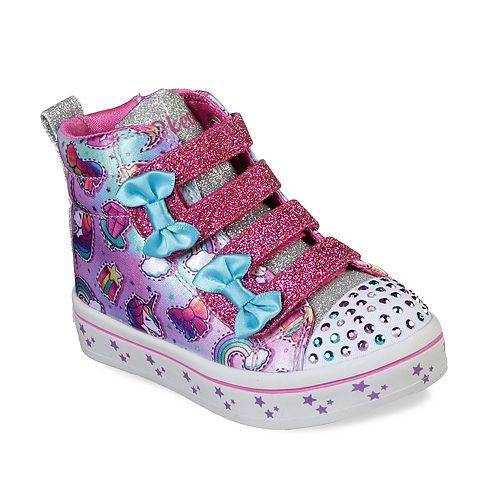 Skechers Twinkle Toes Twi-Lites Toddler Girls' Light Up High Top Shoes