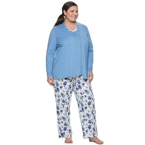 Plus Size Croft & Barrow® 3-Piece Pajama Set