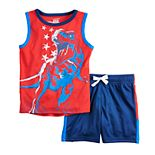 Toddler Boy Jumping Beans® Americana Graphic Tank Top & Shorts Set