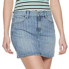 Juniors' Mudd® 5-Pocket Clean Hem Mini Skirt