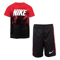 Boys 4-7 Nike Tricot Graphic Tee & Shorts Set