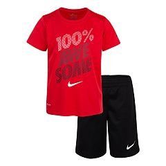 Boys 4-7 Nike '100% Awesome' Graphic Tee & Shorts Set