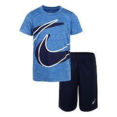 Boys 4-7 Nike Wrap Logo Graphic Tee & Shorts Set