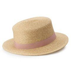 0880c4f1c6360 Women s LC Lauren Conrad Packable Boater Hat