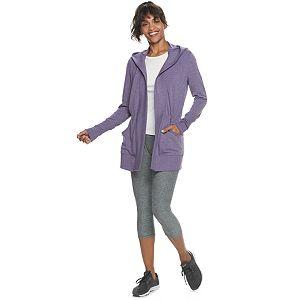 Women's Tek Gear® Cinch Waist Hooded Cardigan