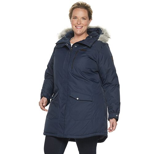 Plus Size Columbia Suttle Mountain Hooded Long Insulated Jacket