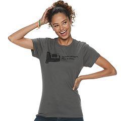 Juniors' 'Dunder Mifflin, This is Pam' Short Sleeve Graphic Tee