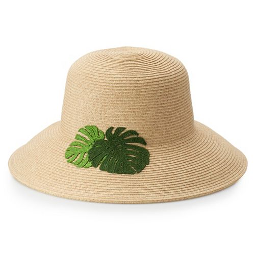 Women's SONOMA Goods for Life™ Embroidered Leaf Floppy Hat