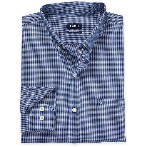 Big & Tall IZOD Sportswear Premium Essentials Classic-Fit Plaid Stretch Button-Down Shirt