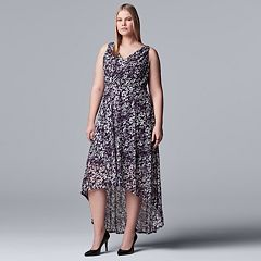 085bfc6320 Plus Size Simply Vera Vera Wang Printed High-Low Dress