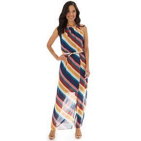 Women's Apt. 9® Pleated Neckline Halter Maxi Dress