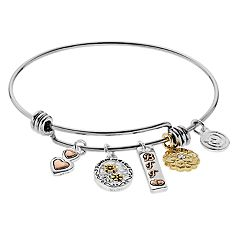 love this life 'Friends' Charm Bangle Bracelet