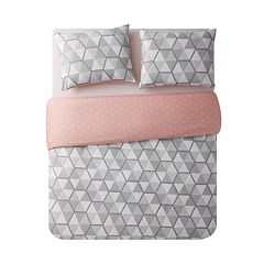 VCNY Brynley Geometric Reversible Duvet Cover Set
