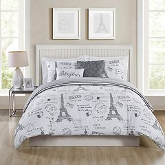 VCNY Paris Night Duvet Cover Set