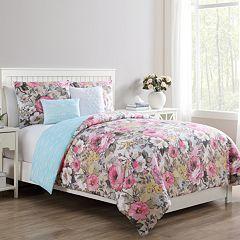 VCNY Lucia Reversible Floral Duvet Cover Set